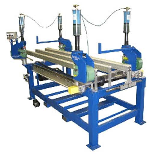 Linear Rail UniPunch Turnkey System - Linear rail Multicyl and UniPunch Turnkey System designed to process different part lengths and widths