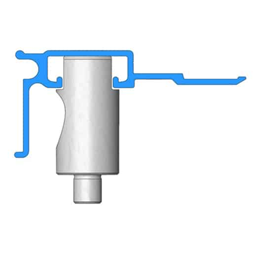 Altered Pedestal Die - For punching holes in formed or irregular shaped parts, UniPunch will modify our AJ series Pedestal Dies allowing holes to be placed in required locations. Provide a sample part or part drawing for application assistance.