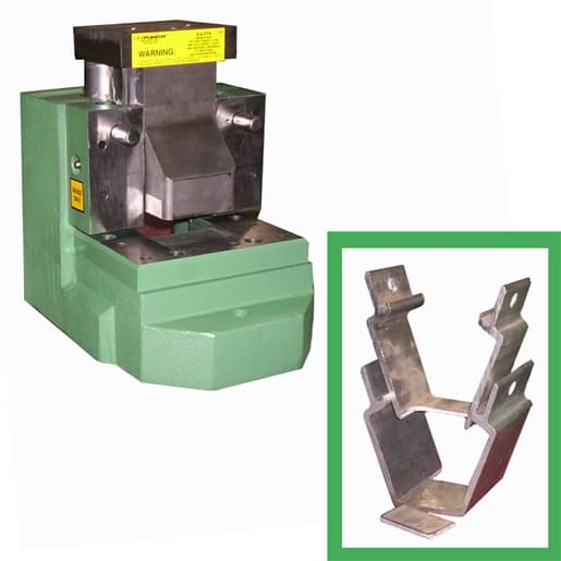 UniPunch Gib Style Notching Unit - For part notching applications on unique custom extrusions, UniPunch can design and build tooling for your special application. To request a tooling quote, provide a part or part drawing of your specific application.