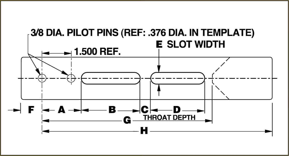 Slot Sizes Amp Unit Hold Down Locations Unipunch Tooling